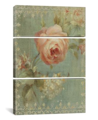 """Rose on Sage by Danhui Nai Gallery-Wrapped Canvas Print - 60"""" x 40"""" x 1.5"""""""