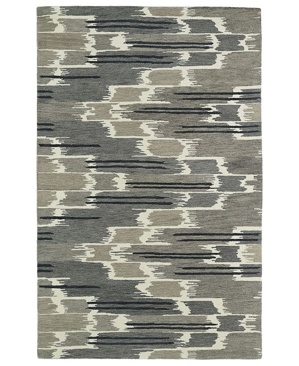 "Kaleen Global Inspirations GLB02-75 Gray 5' x 7'9"" Area Rug"