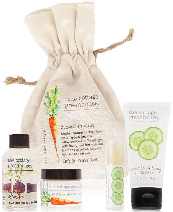 The Cottage Greenhouse 4-Pc. Veggies Glow-On-The-Go Gift & Travel Set