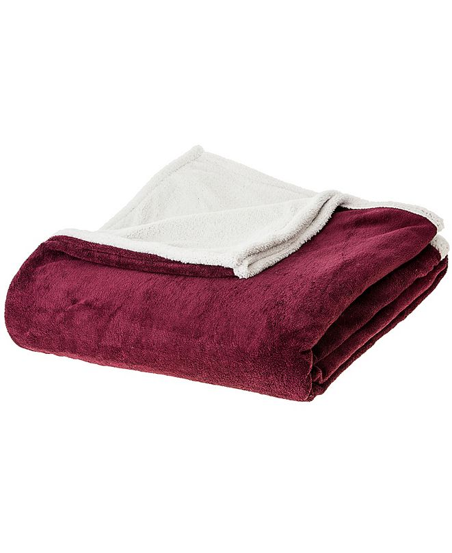 Cheer Collection Microsherpa Microplush Reversible Throw Blanket Collection