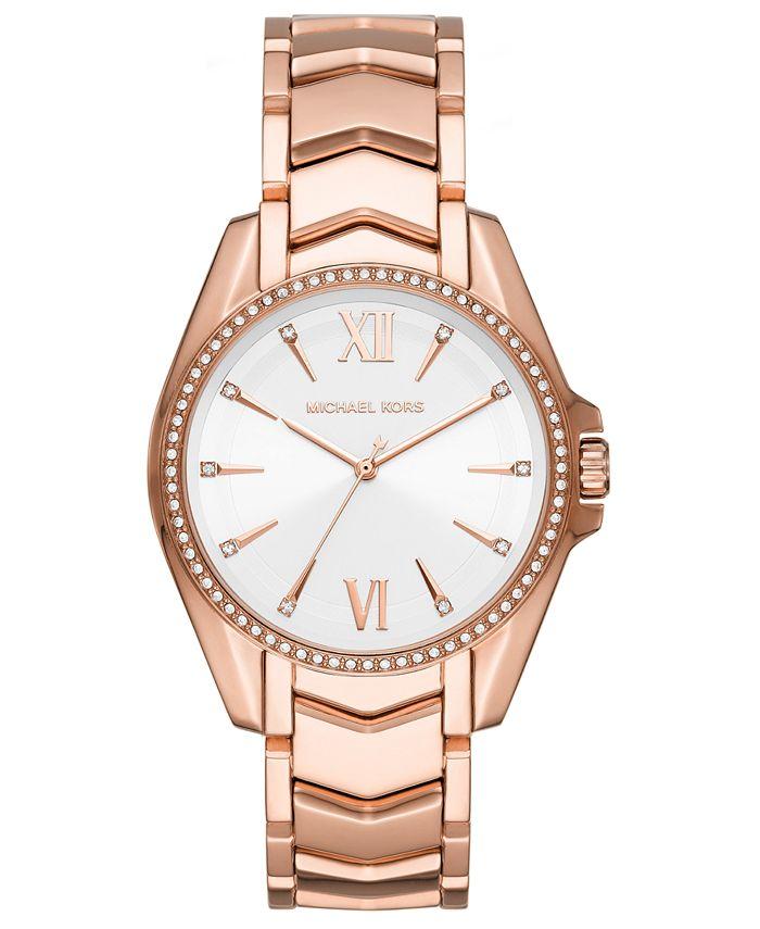 Michael Kors - Women's Whitney Rose Gold-Tone Stainless Steel Bracelet Watch 38mm