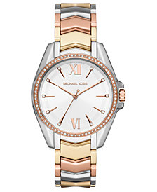 Michael Kors Women's Whitney Tri-Tone Stainless Steel Bracelet Watch 38mm