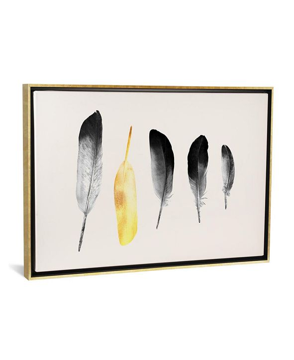 "iCanvas ""Golden Feather"" by Andreas Lie Gallery-Wrapped Canvas Print"