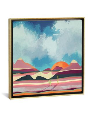 """Pink Desert Glow by Spacefrog Designs Gallery-Wrapped Canvas Print - 26"""" x 26"""" x 0.75"""""""