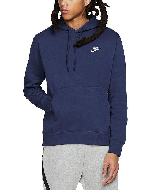 Nike Men's Sportswear Club Fleece Pullover Hoodie & Reviews ...