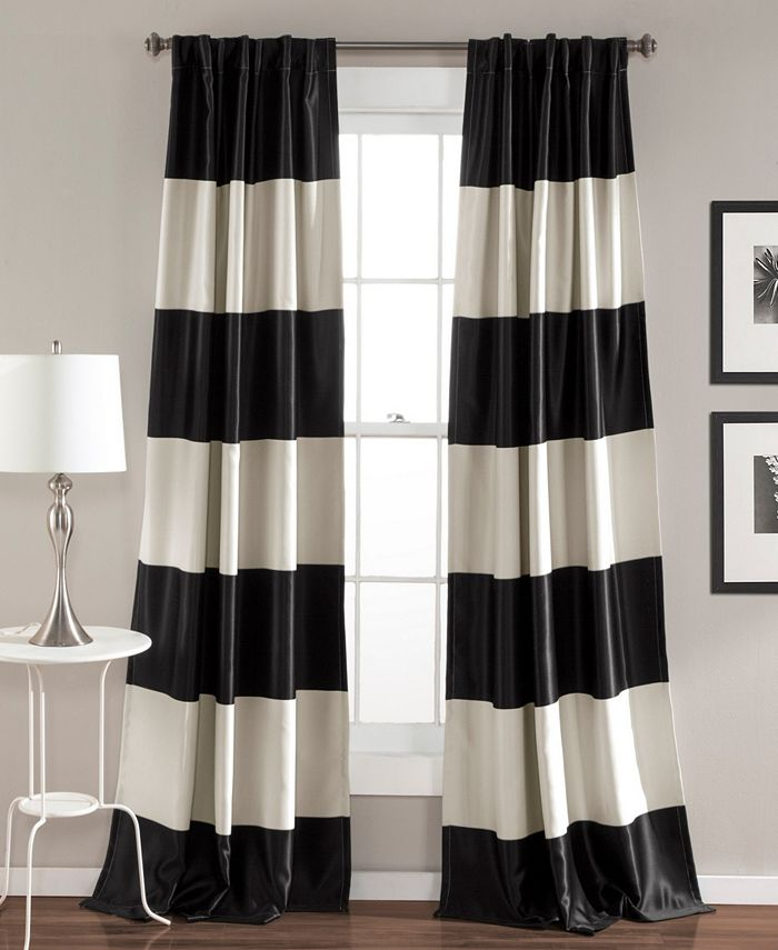 "Lush Décor - Montego Stripe 52"" x 84"" Curtain Set"