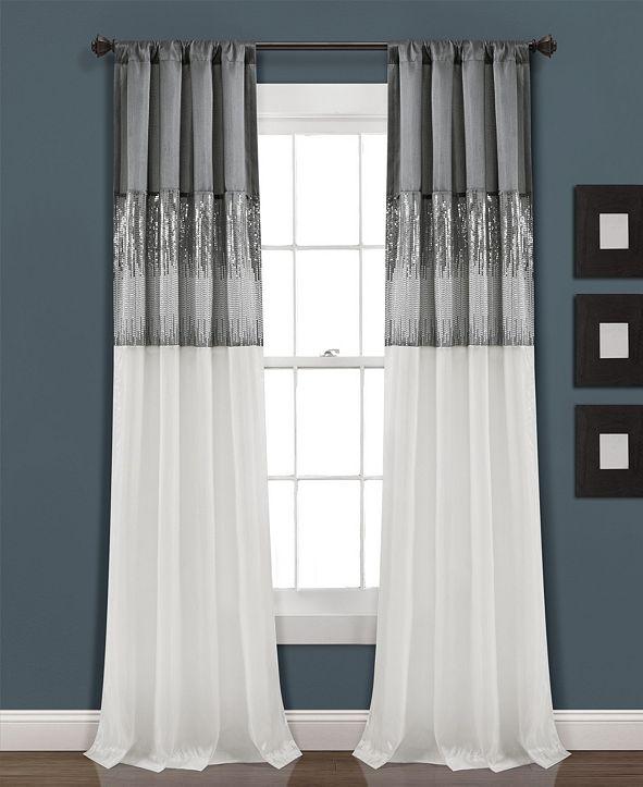 "Lush Decor Night Sky Sequin 84""x42"" Single Window Panel"