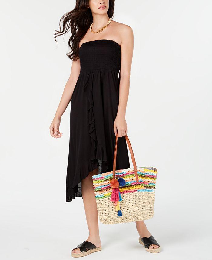 Raviya - Strapless High-Low Dress Cover-Up