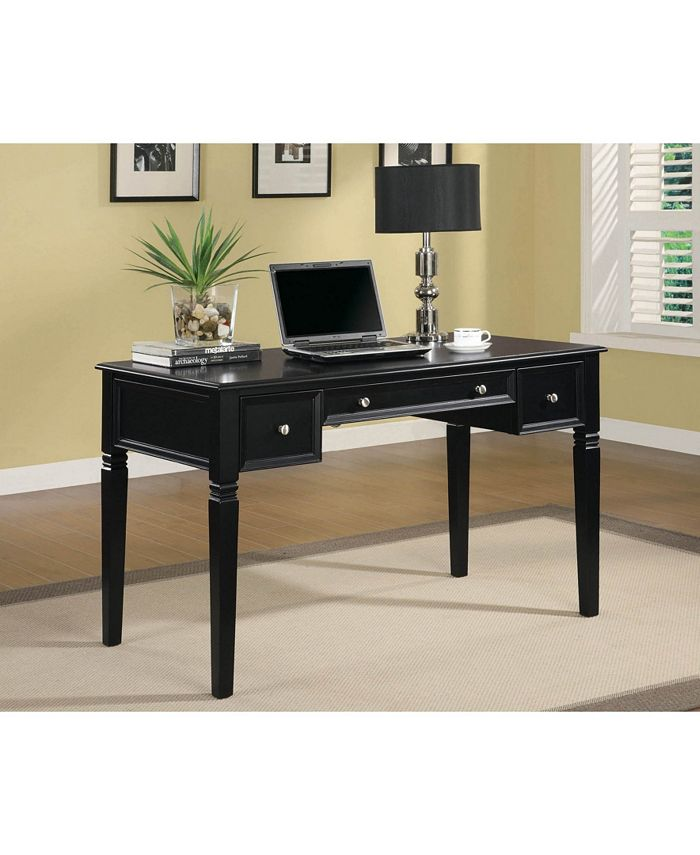 Coaster Home Furnishings - Writing Desk with Keyboard Drawer and Power Outlet Black