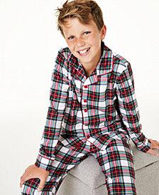 Matching Family Pajamas Kids Stewart Plaid Pajama Set, Created for Macy's