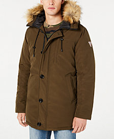 GUESS Men's Heavy Weight Parka Jacket