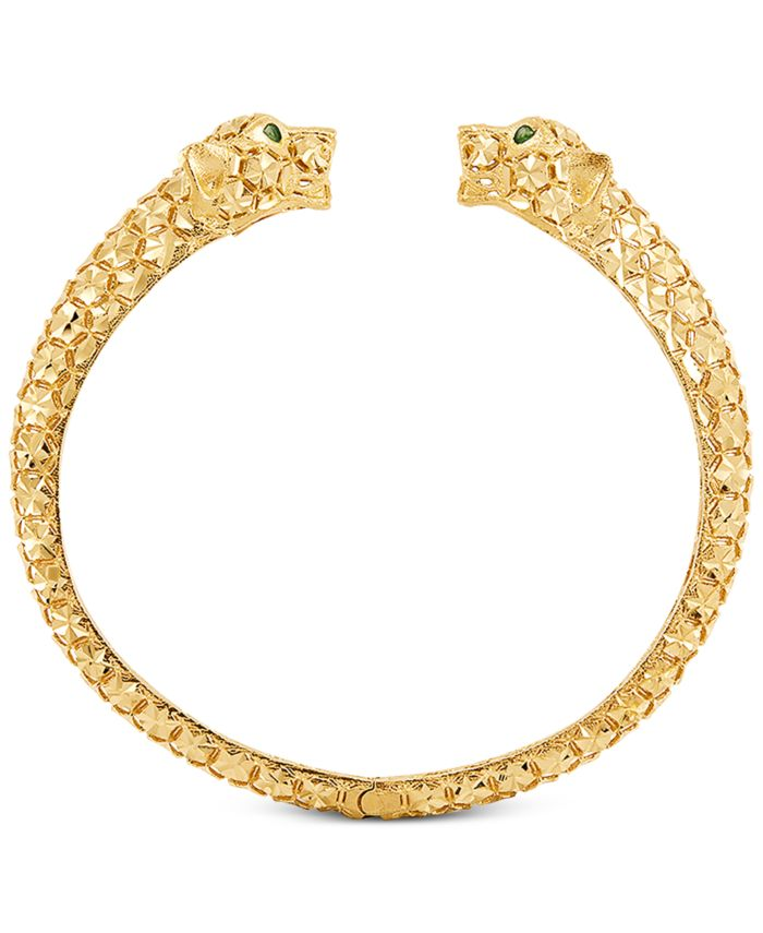 EFFY Collection Effy Oro by EFFY® Panther Cuff Bracelet in 14k Gold & Reviews - Bracelets - Jewelry & Watches - Macy's