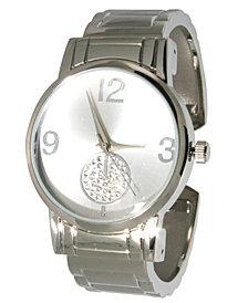 Women's Rhinestone Sub-Dial Minimalist Cuff Bracelet Watch 38mm