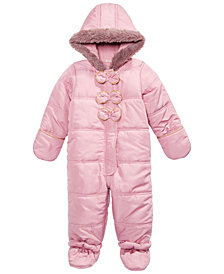 First Impressions Baby Girls Bow Snowsuit, Created for Macy's