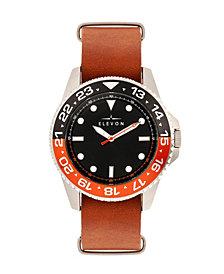 Elevon Men's Dumont Genuine Leather Strap Watch 44mm