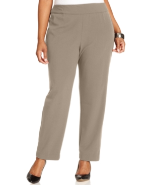 Jm Collection Plus Size Magic Slimming Pull-On Pants