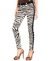 Urban Hearts Juniors Pants, Skinny Zebra-Print Tuxedo