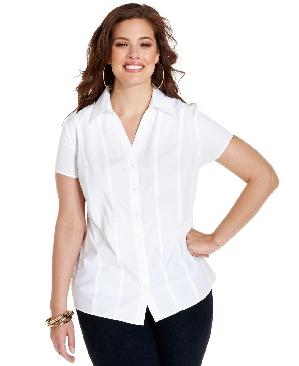 d3a47e9041021 Jones New York Signature Plus Size Shirt