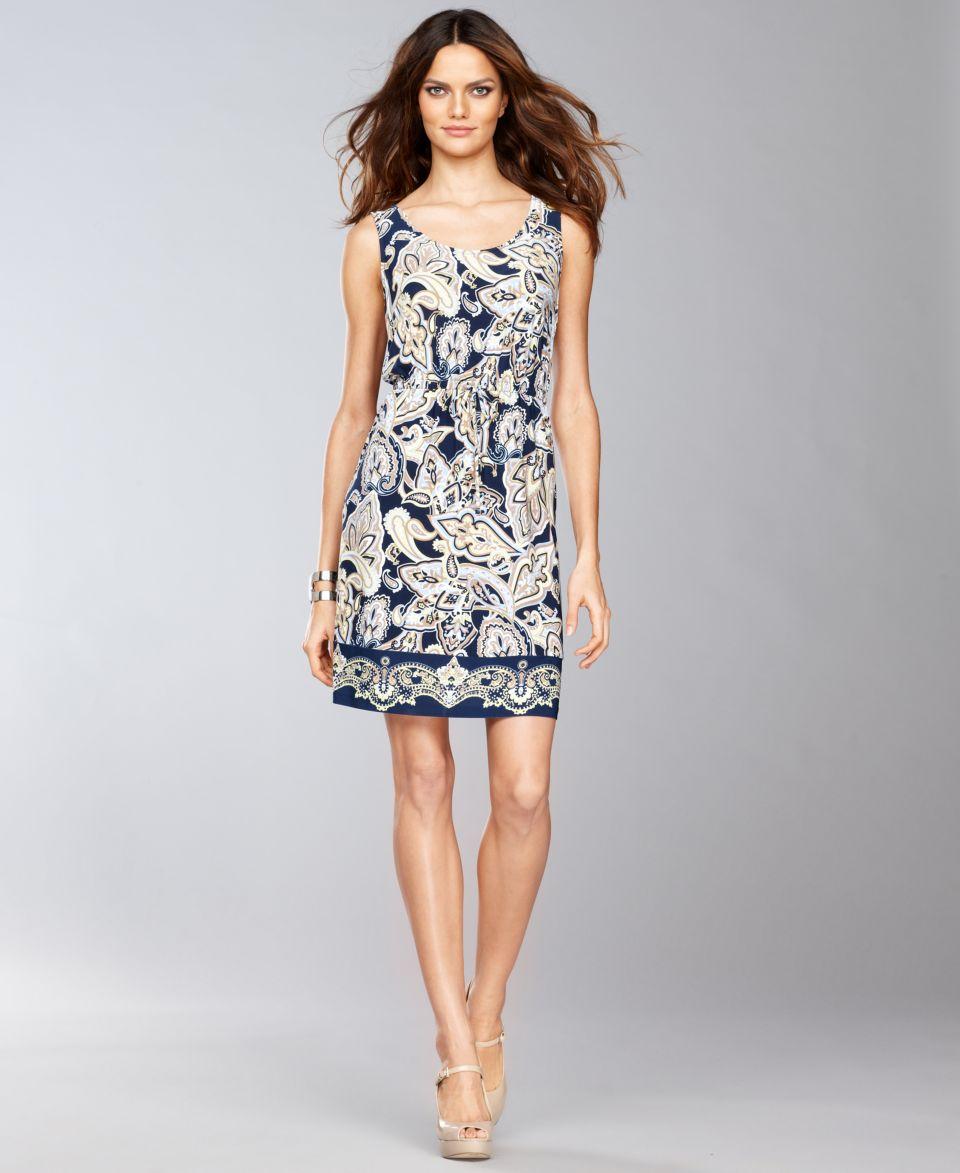 INC International Concepts Dress, Sleeveless Paisley Print Sheath