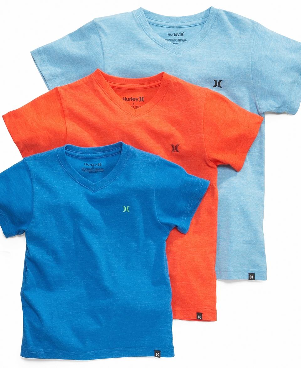 Hurley Kids Shirt, Little Boys Heathered V Neck Tee