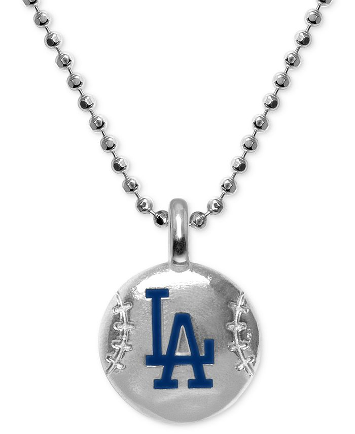 """Alex Woo - Los Angeles Dodgers 16"""" Pendant Necklace in Sterling Silver"""