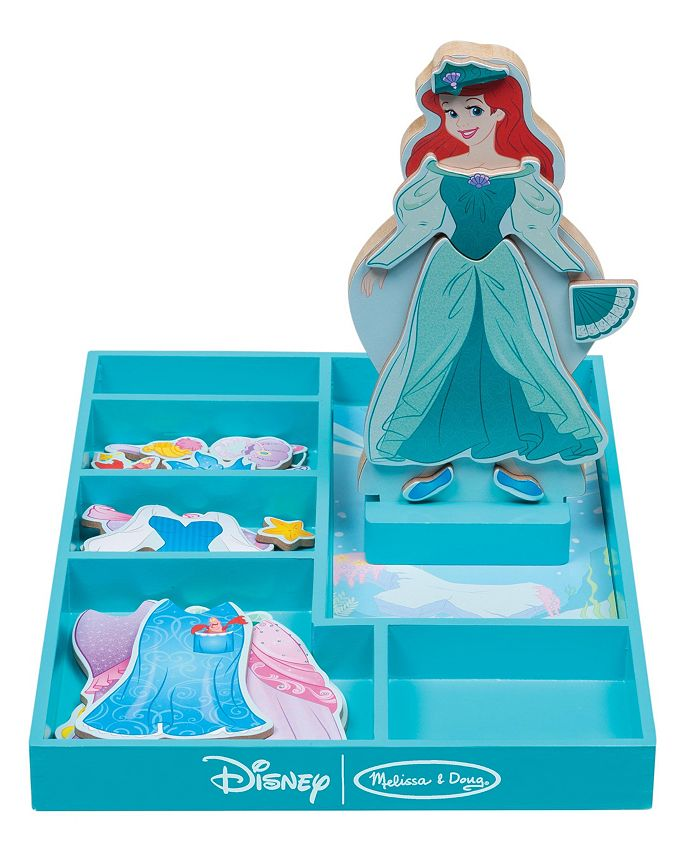 Melissa and Doug - Ariel Wooden Magnetic Dress-Up