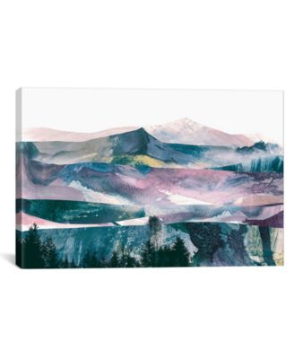 Pink Range by Dan Hobday Wrapped Canvas Print - 40