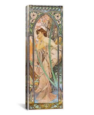 "Evening Reverie, 1899 by Alphonse Mucha Wrapped Canvas Print - 36"" x 12"""