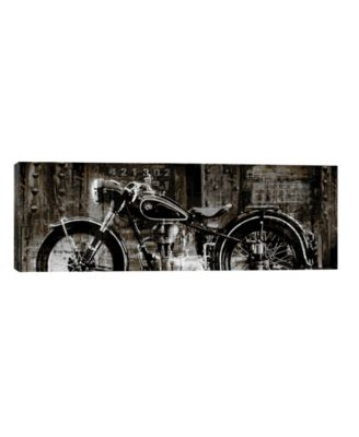 Vintage Motorcycle by Dylan Matthews Wrapped Canvas Print - 16 x 48