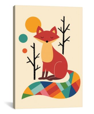 Rainbow Fox by Andy Westface Wrapped Canvas Print - 60
