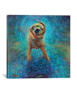 Shakin` Off The Blues by Iris Scott Wrapped Canvas Print - 18