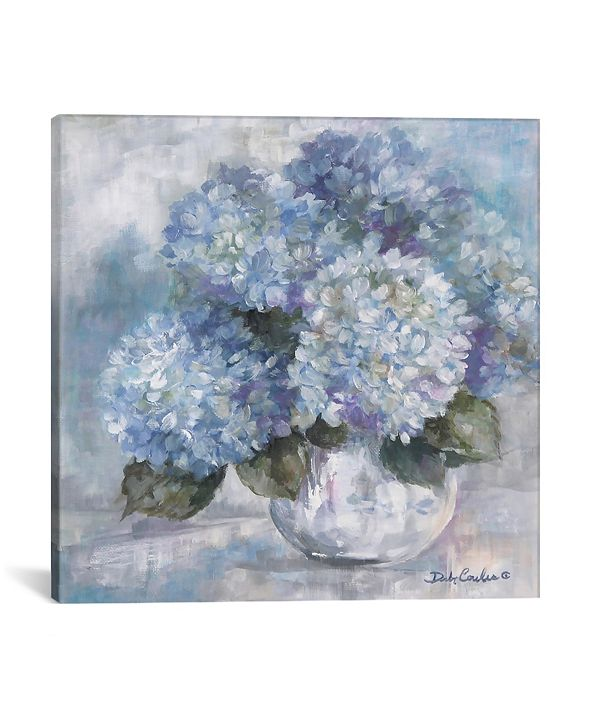 "iCanvas Hydrangea Blues by Debi Coules Wrapped Canvas Print - 18"" x 18"""