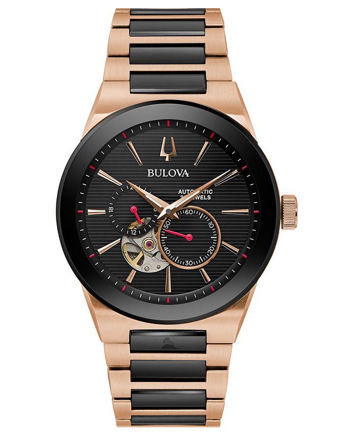 Bulova - Men's Automatic Grammy Two-Tone Stainless Steel Bracelet Watch 41mm
