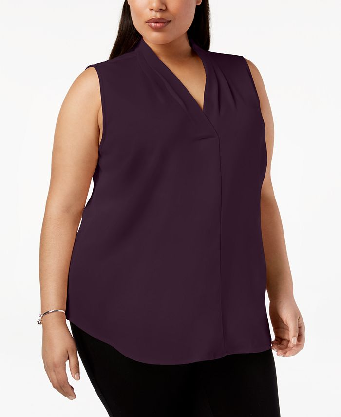 Calvin Klein - Plus Size Pleated Shell