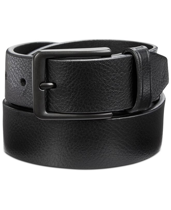 Perry Ellis Portfolio Perry Ellis Men's Casual Pebble Leather Belt