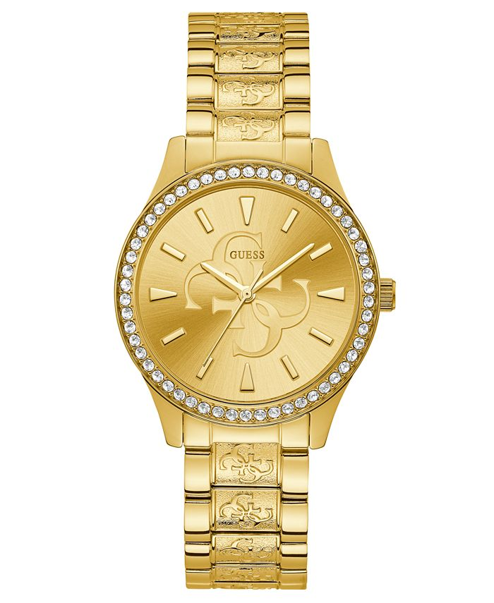 GUESS - Women's Gold-Tone Stainless Steel Bracelet Watch 38mm