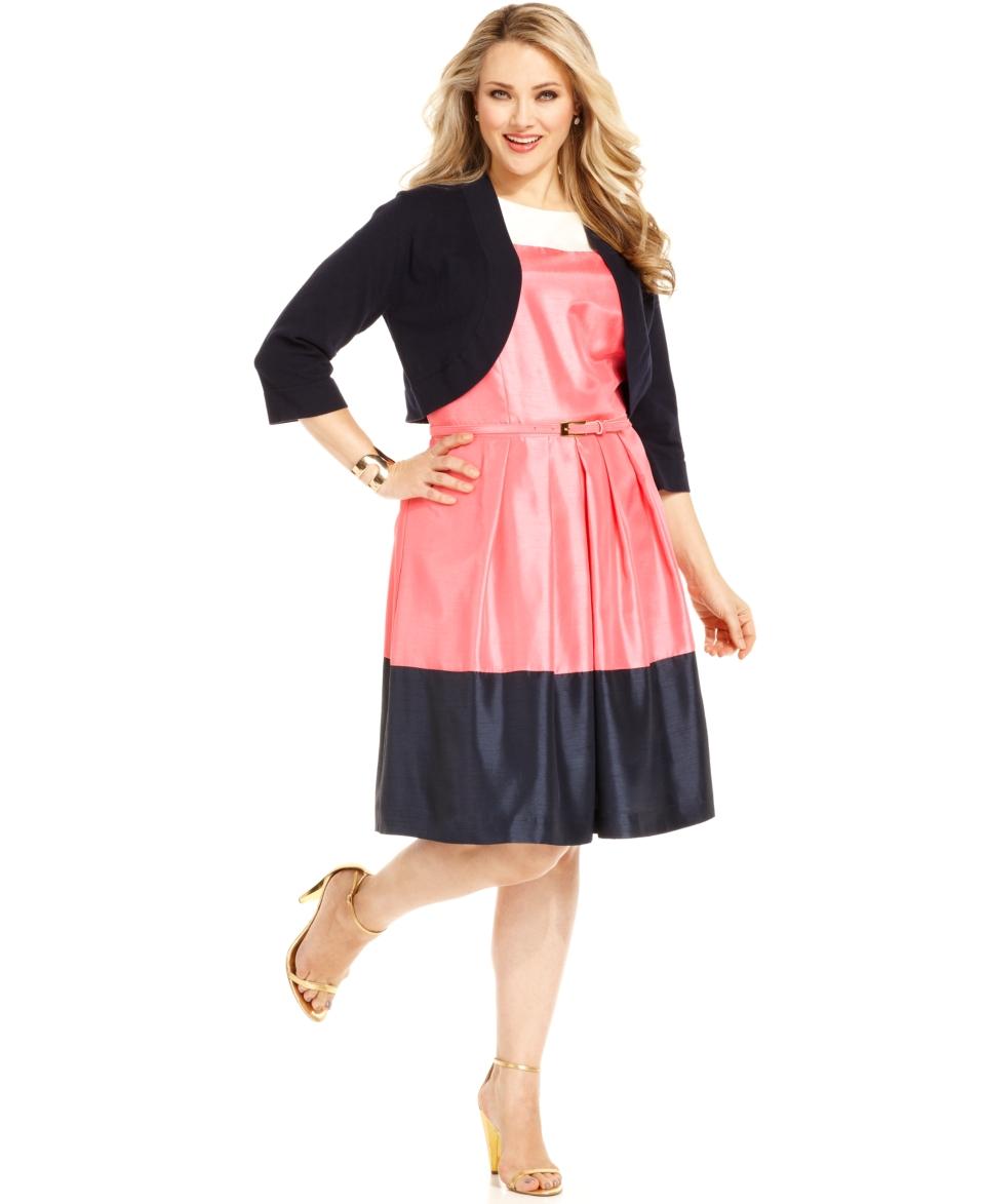 plus size dress three quarter sleeve striped reg $ 68 00 sale $ 46 99