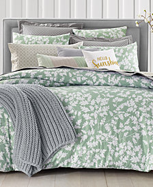 CLOSEOUT! Charter Club Damask Designs Oak Leaf 3-Pc. Full/Queen Duvet Set, Created for Macy's