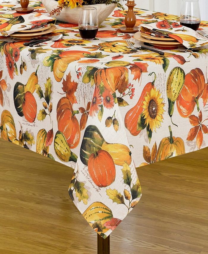 "Elrene - Grateful Season Fall Printed Tablecloth, 52""x70"""