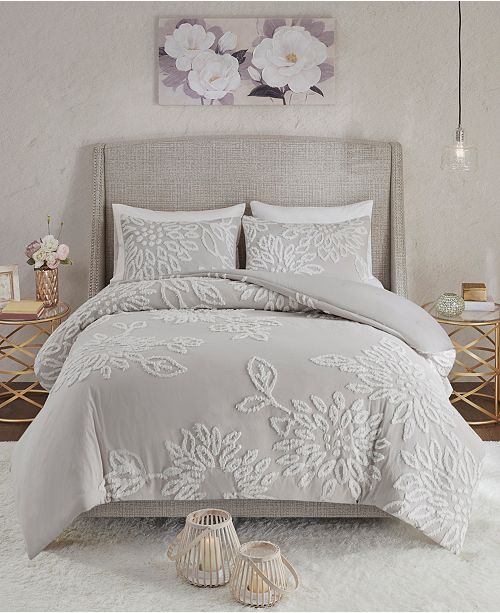 Madison Park Veronica King/California King 3 Pc. Tufted Cotton
