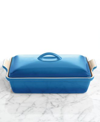 "Le Creuset Heritage Stoneware 12"" x 9"" Covered Rectangular Baking Dish"