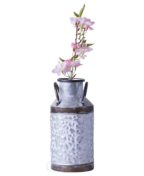 Vintiquewise Rustic Farmhouse Style Galvanized Metal Milk Can Decoration Planter And Vase Small Reviews Vases Home Decor Macy S