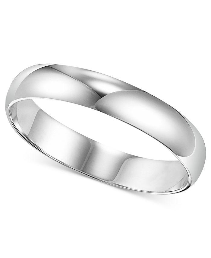 Macy's - Men's Platinum Ring, 4mm Wedding Band