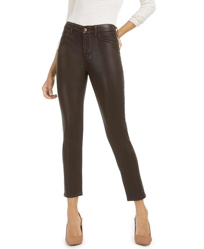 Jen7 by 7 For All Mankind - Coated Ankle Skinny Jeans
