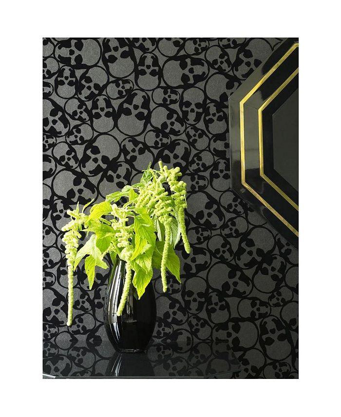 Graham & Brown - Skulls Black Wallpaper
