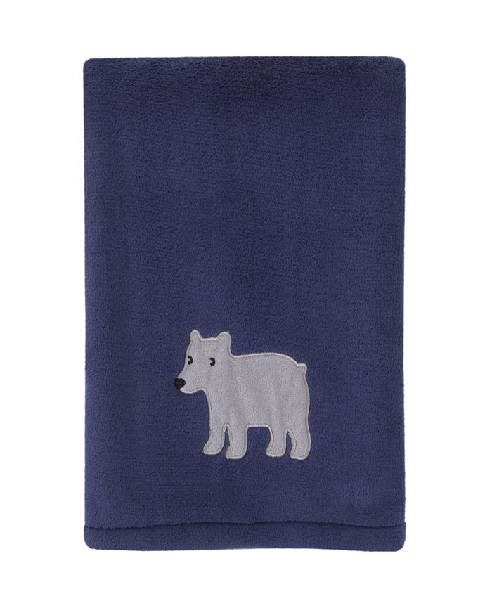 Carter's - Explore Baby Bear Super Soft Plush Baby Blanket with Bear Applique