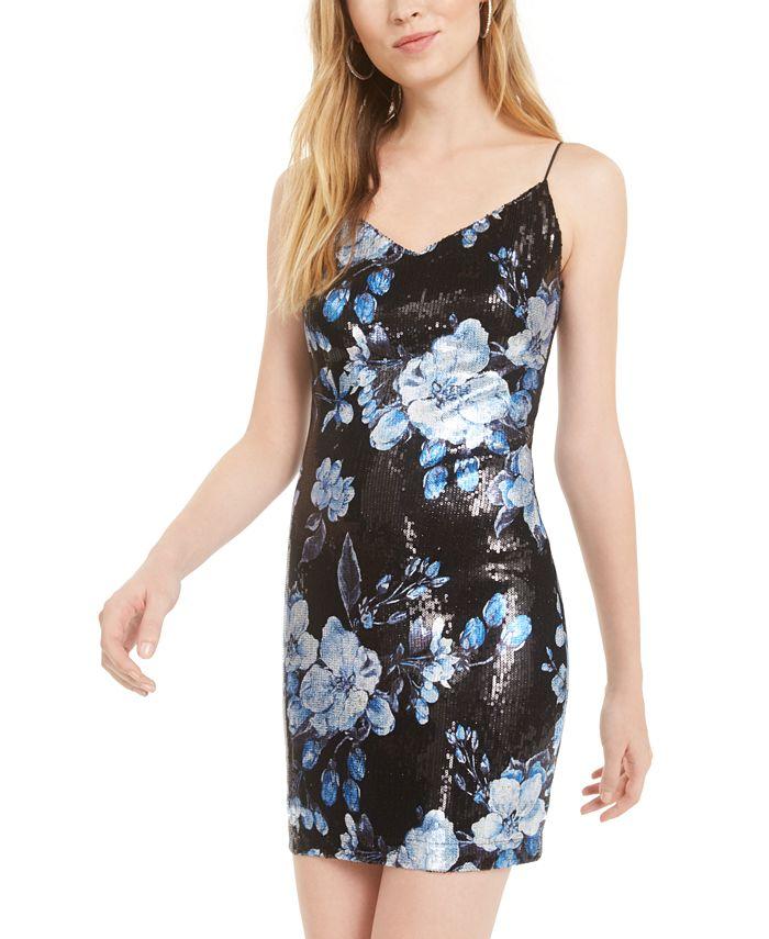 B Darlin - Juniors' Sequined Sheath Dress