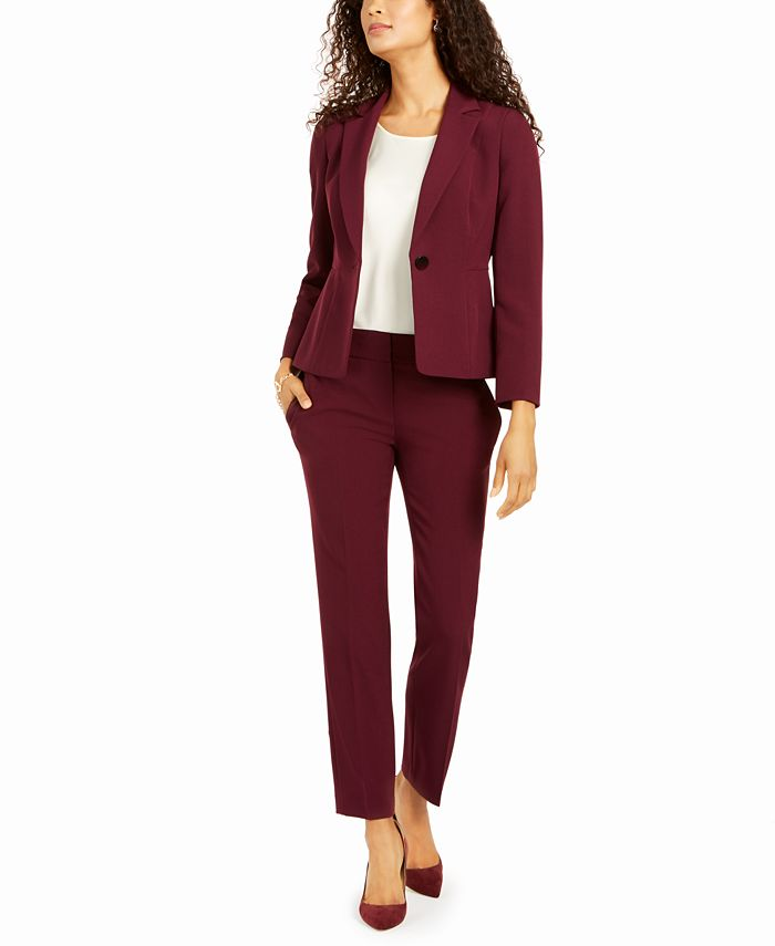 Le Suit - Petite One-Button Pantsuit