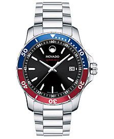 Movado Men's Swiss Series 800 Stainless Steel Bracelet Diver Watch, 40mm