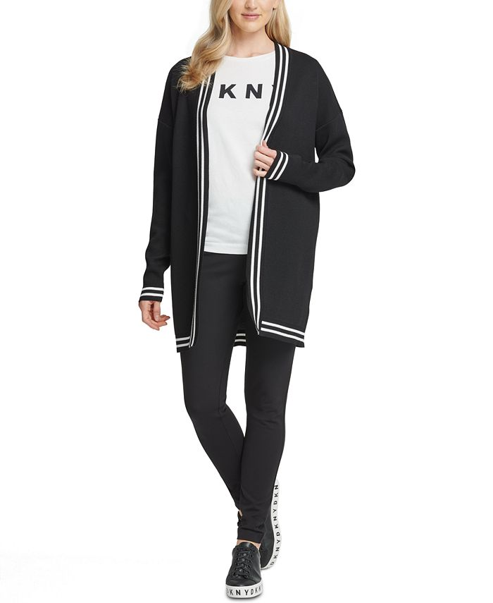 DKNY - Graphic Open-Front Cardigan